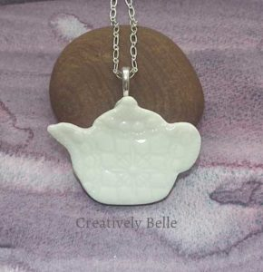 High Tea Tea Pot necklace ceramic jewellery by Creatively Belle at The Rocks Markets in Sydney