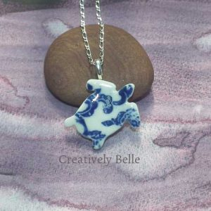 Turtle necklace ceramic jewellery by Creatively Belle at The Rocks Markets in Sydney