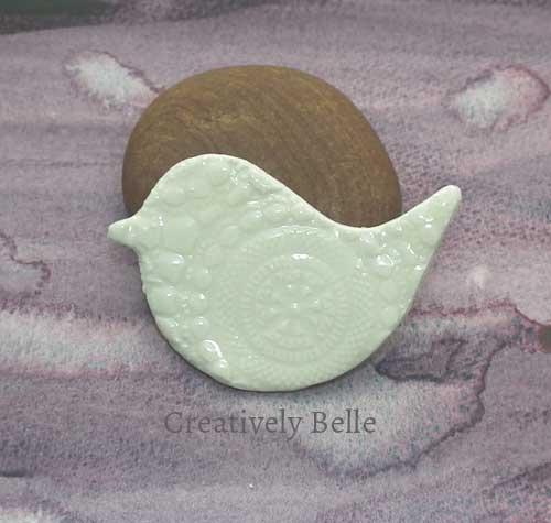 Peace Bird brooch ceramic jewellery by Creatively Belle at The Rocks Markets in Sydney