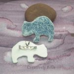 Wombat duo front and back necklace and brooch ceramic jewellery by Creatively Belle